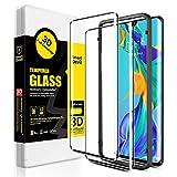 SmartDevil [2 Pack] Protector Pantalla de Huawei P30 Pro,Cristal Templado Huawei P30 Pro,Vidrio Templado [Fácil de Instalar] [3D Borde Redondo] [Garantía de por Vida] para Huawei P30 Pro