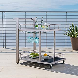 Christopher Knight Home Cape Coral Outdoor Aluminum Bar Cart