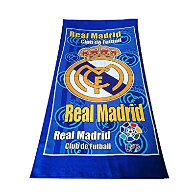 Football Club Beach Towel Bath Towel Super Soft Absorbent Towel for Bath/Swimming Pool/Gym (Real Madrid)