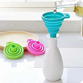 Mini Collapsible Silicone Funnel Foldable Hopper Space Saving Kitchen Gadgets Cooking Tools