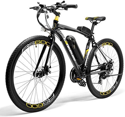 LANKELEISI Bicicleta eléctrica RS600, motor 300W, batería Samsung 36V 20Ah, marco de aleación de aluminio, bicicleta eléctrica de carretera (amarillo)
