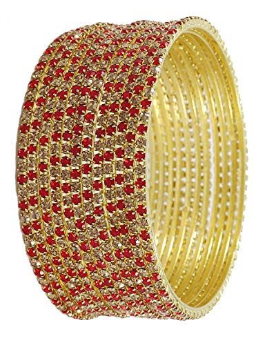 Zulka Gold Plated Bangles Studded by Zircon Set for Women &