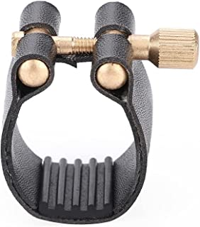 Clarinet Ligature, Portable Clarinet Mouthpiece Ligature, Plastic Cap Durable Lightweight Material for Clarinet Profession...