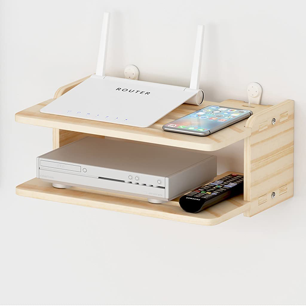 WiFi Storage Box TV Set-top Box Hidden Shelf Wireless Router Rack Network Set-top Box shelter Box Home Desktop Organized Wall Shelf