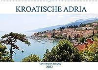 Kroatische Adria - Von Opatija bis Krk (Wandkalender 2022 DIN A2 quer): Erleben Sie nostalgischen Glanz und ein subtropisches Naturparadies! (Monatskalender, 14 Seiten )