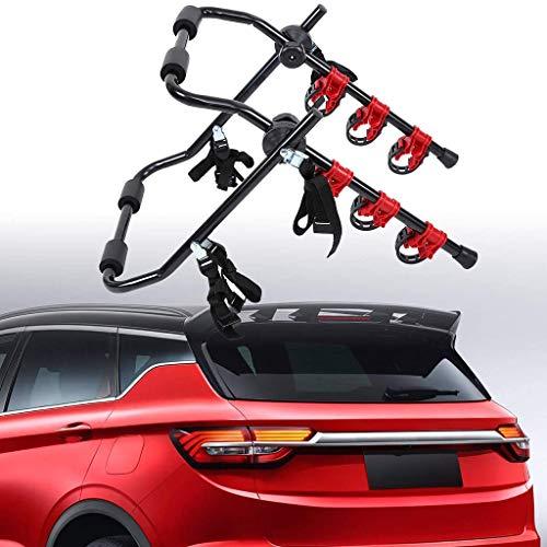 YYDE Fahrradträger, Hitch Berg Fahrradträger, Heckfahrradträger Folding Tor mit Riemchen bis zu 3 Fahrräder Universal-Bike Stützlast 50 kg