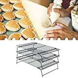 Stackable shelf: This shelf allows you to cool dozens of biscuits or other foods at the same time without taking up too much space. Easy to install: This shelf can be easily installed in the bread cabinet without any tools, or you can directly lay it...