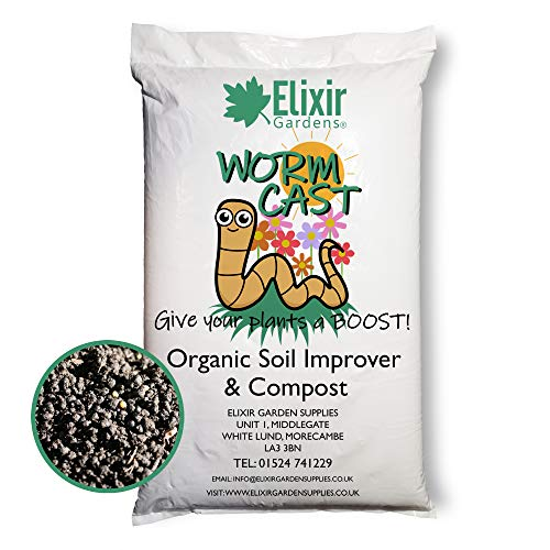 Elixir Gardens  Worm Castings 100% Organic Vermi Compost/Fertiliser/Soil Improver/Potting Bio Humus