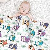 Soft Baby Girl Blanket Owl Flannel Receiving Kids Throw Blanket Baby boy Toddler Blanket 30x40 inch