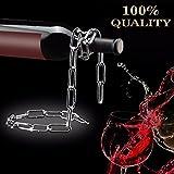 Chaîne étagère de vin, Shineus Magic Chaîne en métal support pour bouteille de vin flottante Illusion support pour maison de cuisine Bar Décor Accessoires (Argent)