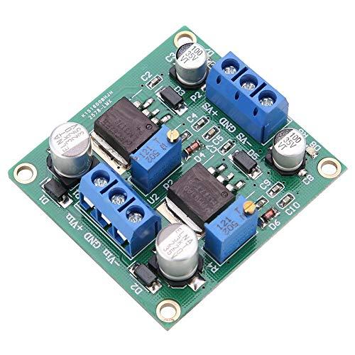 Estabilización de voltaje, LM317/337 Módulo de potencia de estabilización de voltaje positivo y negativo Bajo ondulación Lineal surtido de diodos ajustables Módulo regulador de voltaje
