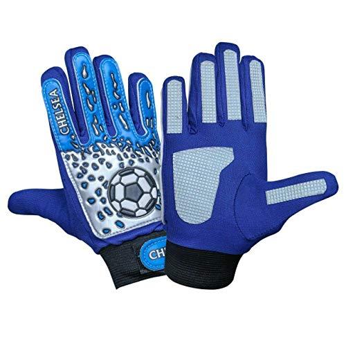 ARSUK Torwarthandschuhe Kinder & Jugendliche, Fußball-Handschuhe, mit Fingersave,Rutschfes, Gewährung von Starken Schutz für Finger Unisex Kinder (Chelsea-Size:06)