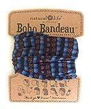 Natural Life Women's Boho Bandeau Black Indigo Stripe Headband Wear 11 Ways