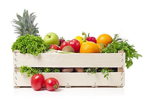 Oedim Vinilo Decorativo Pared 3D Fruteria | Cesta de Mimbre Frutas y Verduras | 115x80cm | Adhesivo Resistente y de Facil Aplicación | Diseño Elegante | Decoración Puestos de Venta |