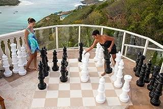 MegaChess Giant Chess Set - Black and White - Plastic - 37 inch King