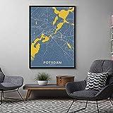 Unbekannt Abstrakte Farbe Weltkarte Potsdam Poster