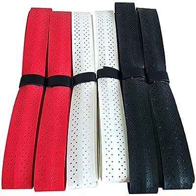 PCLstore Overgrips Pro para Pala Padel, Raqueta Tenis o Badminton - 6 Grips de Camuflaje Absorbentes y Antideslizantes - Empuñaduras de Elite Perforadas