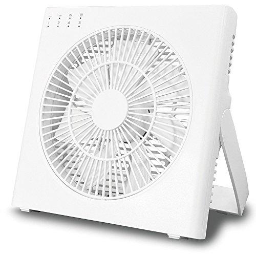 トップランド DCミニ扇風機 18cm どこでもFANコードレス SF-DFC20 WT 切タイマー