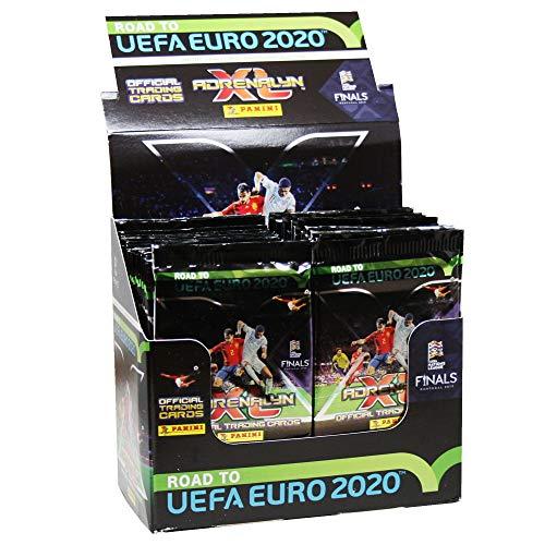 Panini- Carta de la colección Road to Euro 2020, Expositor con 50 Sobres, Color carbón (097511)