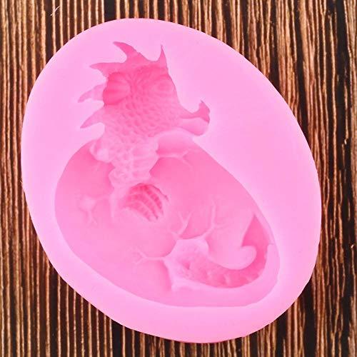 Dinosaurus vormen om zelf te maken van silicone voor het versieren van taarten cupcakes met chocolade en topper voor snoep, zeep, handwerk, keukengerei