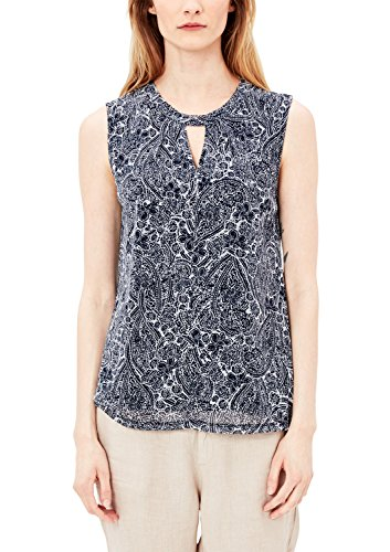 s.Oliver Damen 5706342582 Top, Blau (Summer Navy AOP 58A3), 40