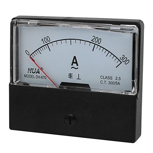 Aexit Weiße, klare, quadratische Kunststoffhülle AC 0-300A 2.5-Klasse-Analog-Ampere-Panel-Meter (7c479e53c2b8a555b5a39ae4a2b78b61)