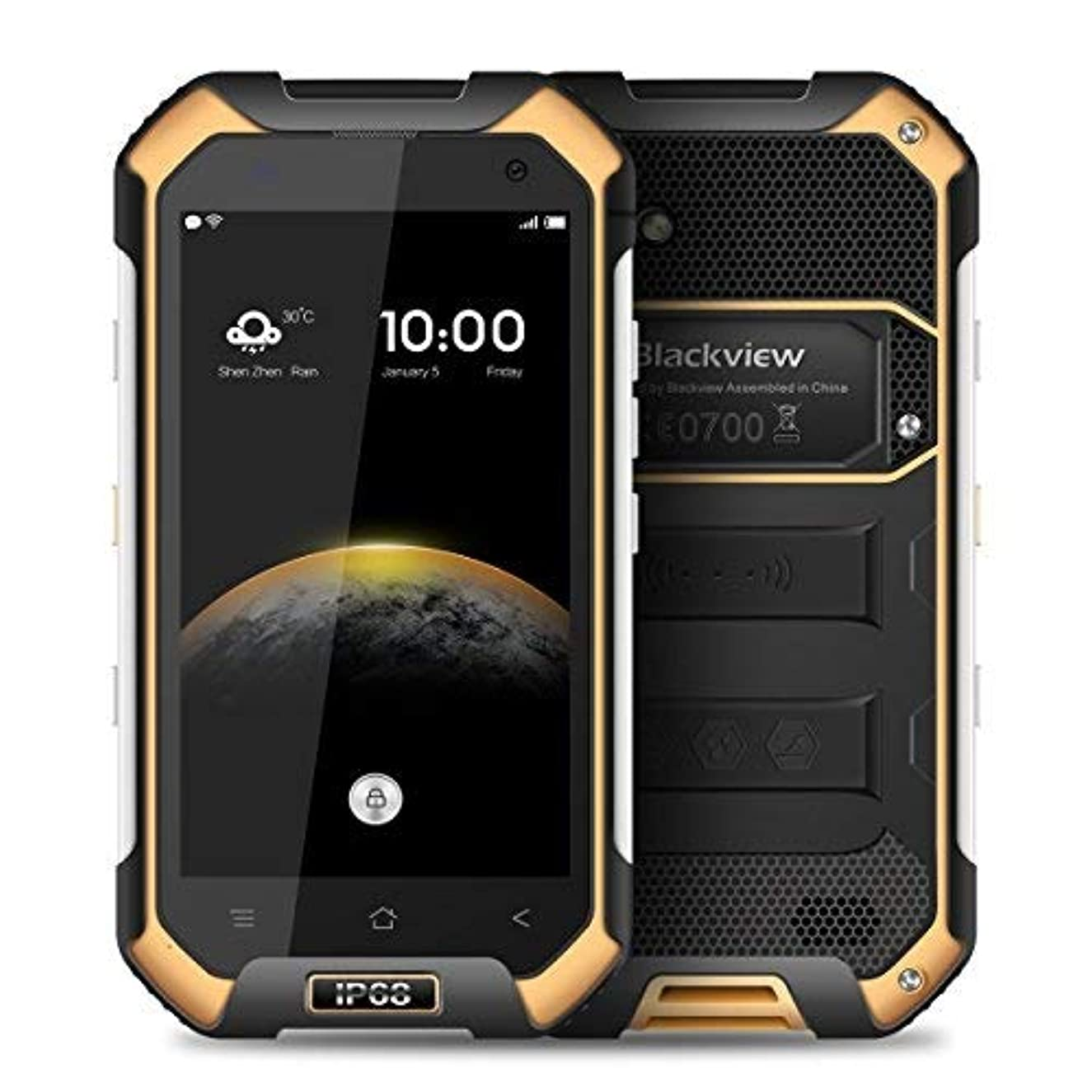 Unlocked Cell Phone Rugged, Blackview BV6000 Rugged Smartphone Dual Sim 4.7'' Octa Core 4G Phone IP68 Waterproof 3GB RAM+32GB ROM 13MP Camera AT& T Mobile NFC/GPS/SOS/GLONASS (Orange)