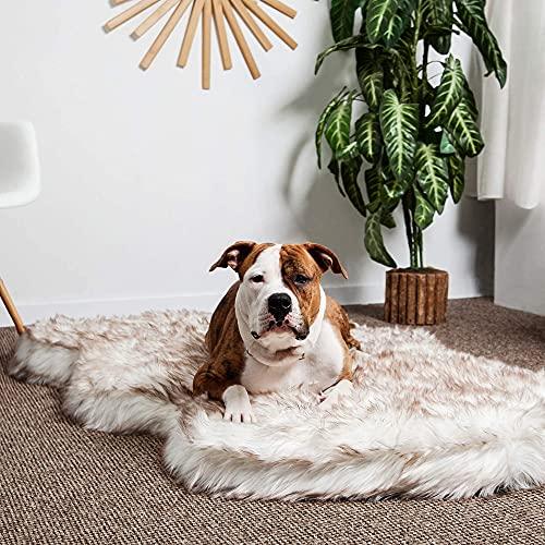 Luxury Faux Fur Orthopedic Dog Bed, Memory Foam...
