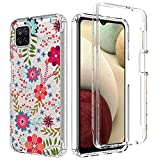 Zoeirc Case for Galaxy A12 5G, Samsung A12 Clear Case for Girls, Soft TPU 360 Full Body Shockproof Hybrid Bumper Crystal Clear Phone Case Cover for Samsung Galaxy A12 (Floral Prints)