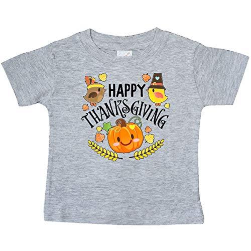 inktastic Happy Thanksgiving- Autumn Birds, Baby T-Shirt 12 Months Heather Grey