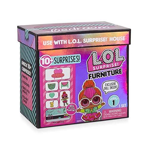 L.O.L. Überraschung, Puppe mit Möbel – Deko-Box, 1 Puppe 8 cm, Mobilier, Zubehör, Wasserfunktion, zufällige Modelle zum Sammeln (Serie 1), Spielzeug für Kinder ab 3 Jahren, LLU90