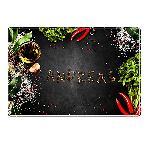 Tischset mit Namen ''Andreas'' Motiv Pfeffer - Tischunterlage, Platzset, Platzdeckchen, Platzunterlage, Namenstischset