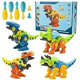 3 otters Take Apart Dinosaur Toy, STEM Toys for Kids Dinosaur Building Blocks 4PCS STEM Dinosaur Toys Educational Gifts for Boys Birls Basket Stuffers