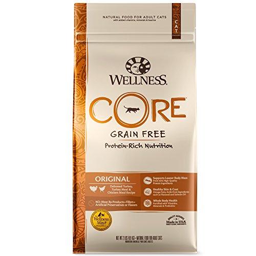 Wellness Core Natural Grain Free Dry Cat Food, Original Turkey & Chicken, 12-Pound Bag