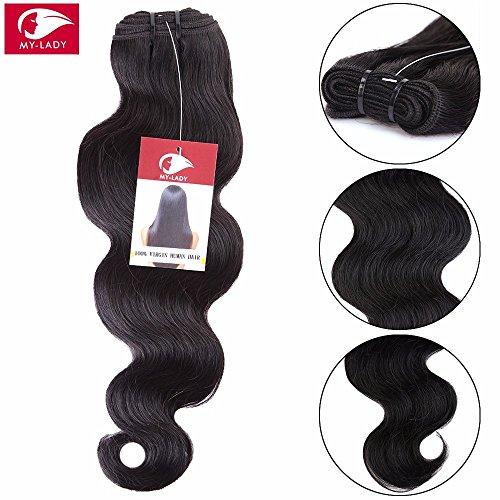 My-Lady 7A 100g 60cm Extension Matassa Tessitura Mossi Brasiliano Vergine Unprocessed 100% Human Hair Remy Capelli Veri Body Wave