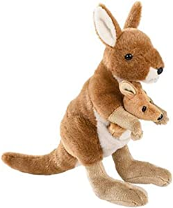 ArtCreativity Kangaroo Stuffed Toy, 1 PC, Soft Mom and Baby Kangaroo Plush Toy for Kids, Cute Home and Nursery Animal Decorations, Zoo Party Prop, Best Birthday Idea, 8 Inches Tall