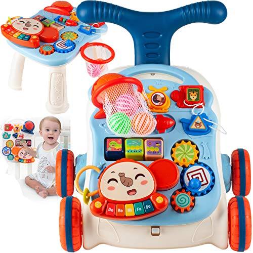MalPlay Laufwagen 5 in 1 mit Spielzeugen und Piano | Gehfrei Spiel- und Lauflernwagen Lauflernhilfe Gehhilfe Musik | Spielecenter für Babys ab 6 Monaten