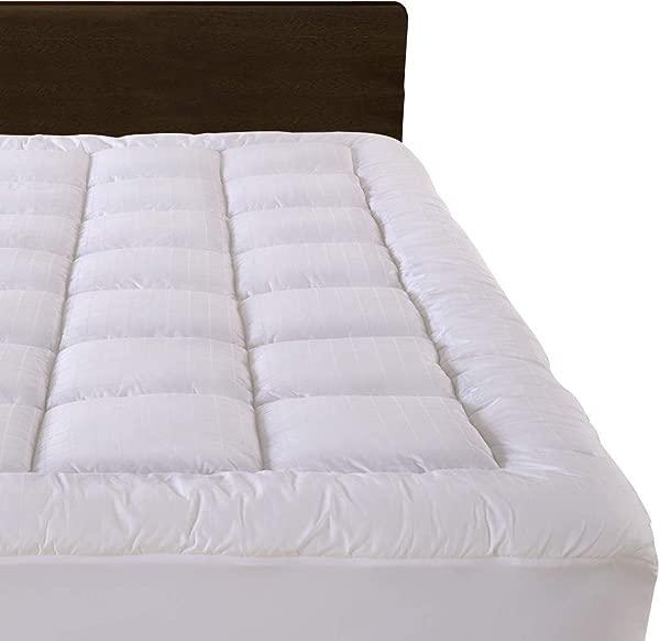 Cloudream Twin XL Overfilled Mattress Pad Cover 8 22 Deep Pocket 300TC Snow Down Alternative Pillow Top Mattress Topper