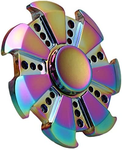 JUNAN Metal Rainbow Fidget Spinner Toys, Hand Spinners Toy Can S
