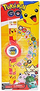 Projector Cartoon Pokemon Children Digital Projection Wristwatches Kids Boys Girls Clock Electronic watch Gift