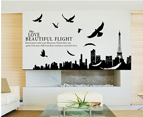 Mznm behangsticker Frankrijk beroemde wand sticker muursticker Wall Sticker