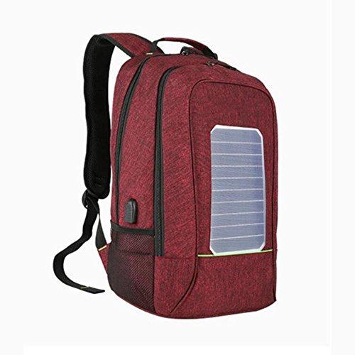 WYXIN Sac à dos anti-vol d'énergie solaire hommes pour 80 pouces ordinateur portable externe USB chargeur voyage sac à dos hydrofuge