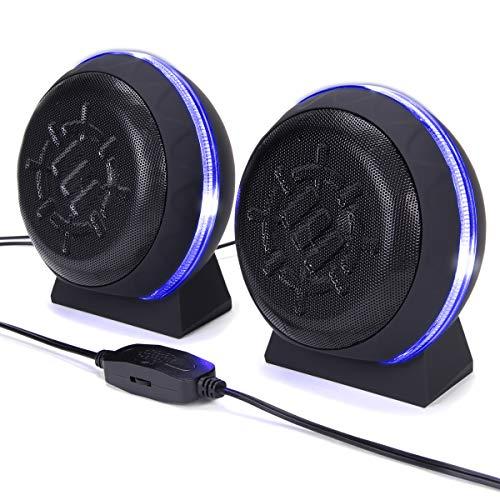 ENHANCE Altavoces Gaming LED para Ordenador con Subwoofer, Potentes Controladores De 5...