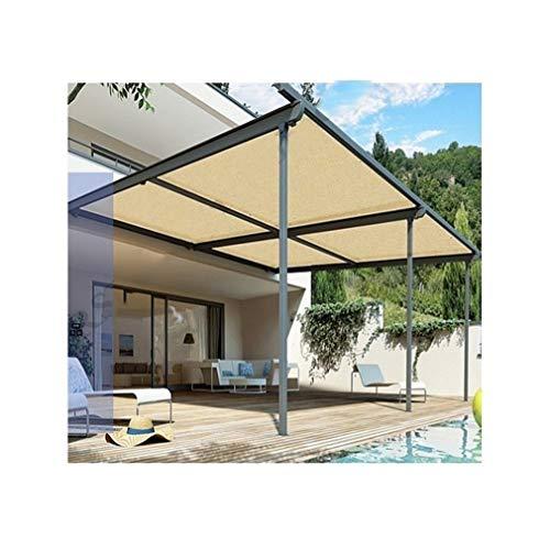 ALGFree-Sun Sonnensegel Schattenspender Sonnenschutz Senken Sie Die Temperatur Atmungsaktiv Für Garten Camping Balkon Outdoor,21 Größen (Color : Beige, Size : 2×6m)