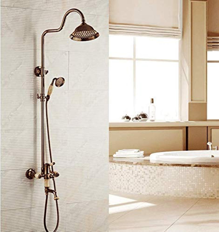 GFF Dusche Europische Antike Dusche Duschset Kupfer Aufzug Badezimmer Hei Kalt Dusche Dusche, Absatz Eins Badewanne Dusche Mischbatterie