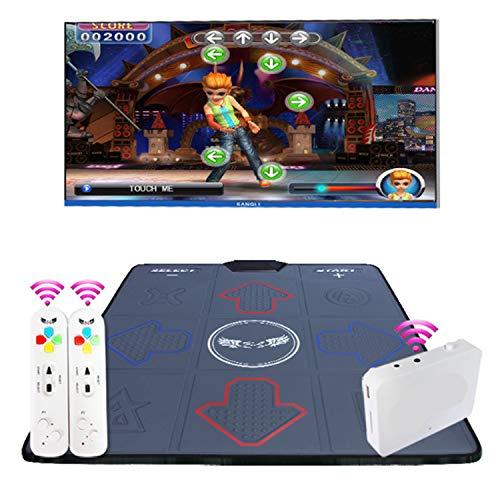 QMKJ Dance Mat pc TV para niños Alfombra de Baile Individual HD inalámbrico Adelgazante máquina de Baile Antideslizante TV Ordenador de Doble Uso para Adultos bebés,Gray
