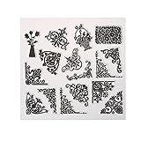Amazingdeal365 Mit Vielfalt-teilig ! Silikonstempel Set - Blumen Kunst- Clear Stamps - Stempel transparent