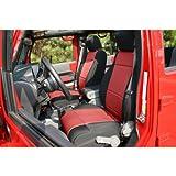 Rugged Ridge 13214.53 Black & Red Custom Neoprene Front...
