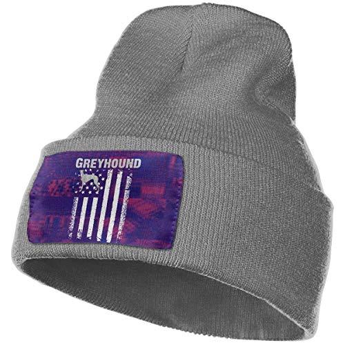 AEMAPE Sombrero de Punto Unisex Gorro de Calavera de Moda Sombreros de Tejer - Bandera de Galgo de América