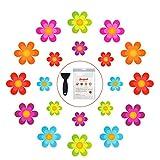 Secopad Bathtub Stickers Non-Slip, 20 PCS Safety Shower Treads Adhesive Bright Flowers App...